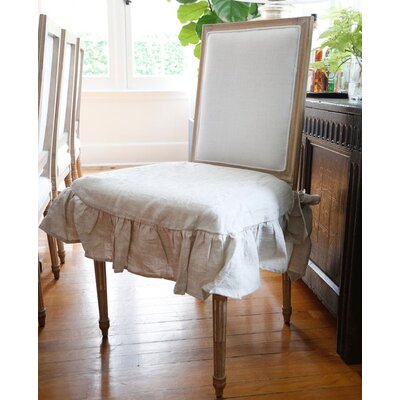 Parson Box cushion Dining Chair Slipcover Color: Flax