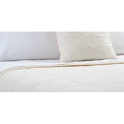 Antwerp Coverlet Size: King, Color: Cream