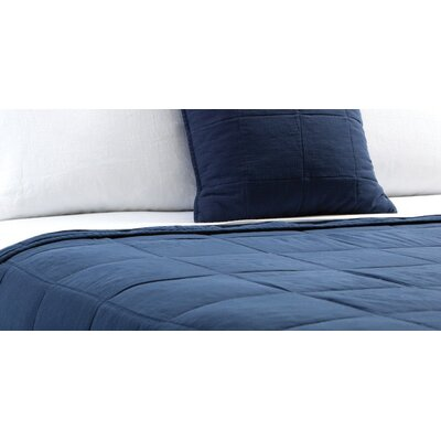 Antwerp Coverlet Size: Queen, Color: Navy