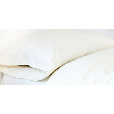 Bamboo Pillowcase Size: Standard, Color: Cream