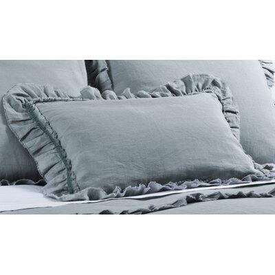 Mathilde Linen Lumbar Pillow Color: Seafoam