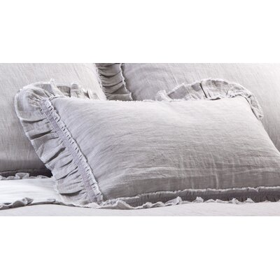 Mathilde Linen Lumbar Pillow Color: Silver