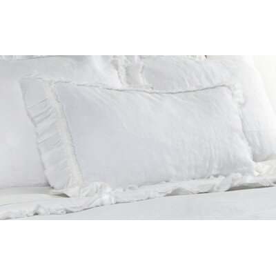 Mathilde Linen Lumbar Pillow Color: White