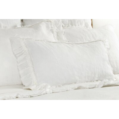 Mathilde Linen Lumbar Pillow Color: Cream
