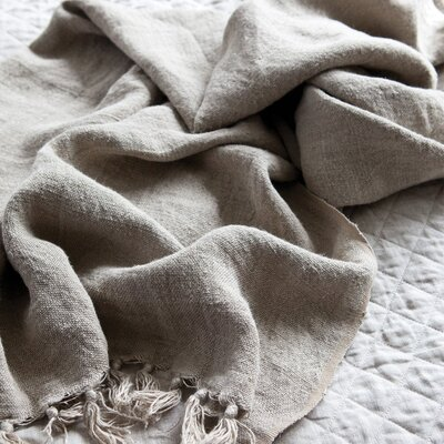 Montauk Linen Throw Color: Natural
