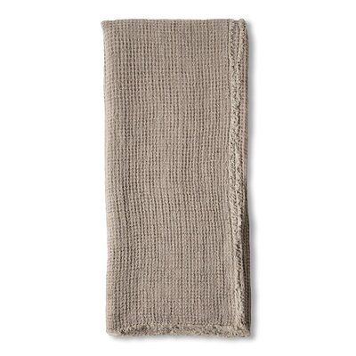 Venice Linen Throw Color: Taupe