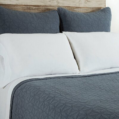 Oslo Coverlet Color: Blue, Size: Queen