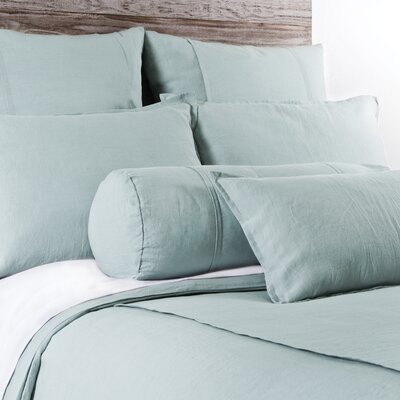 Louwie Linen Lumbar Pillow Color: Seafoam