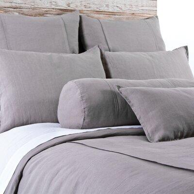 Louwie Linen Lumbar Pillow Color: Gray Stone