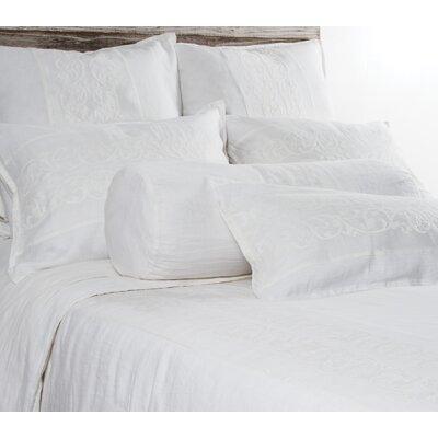 Allegra Linen Lumbar Pillow Color: White