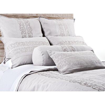 Allegra Linen Lumbar Pillow Color: Silver