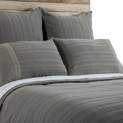 Quinn Sham Size: King, Color: Gray