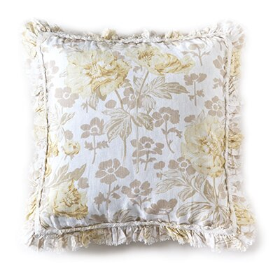Sofia Linen Pillow Cover Color: White, Size: 26 H x 26 W
