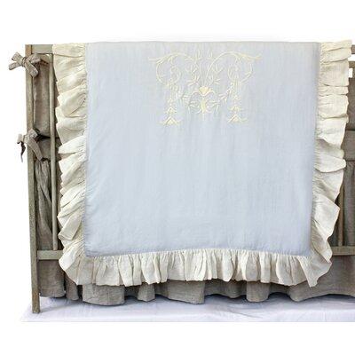 Celeste Crib Duvet Color: Blue / Cream