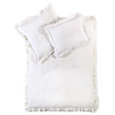 Baby Crib Duvet Cover Color: White / White