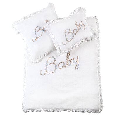 Baby Decorative Sham Color: White / Blue