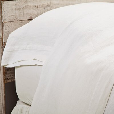 Louwie Linen Flat Sheet Color: Cream, Size: Queen