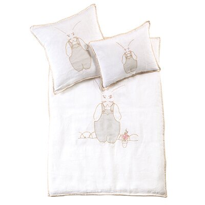 Bunnie Baby Decorative Sham Color: White / Blue