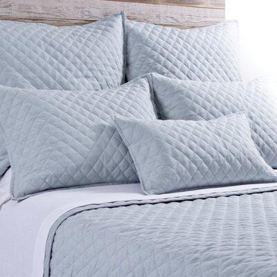 Hampton Linen Lumbar Pillow Color: Ocean