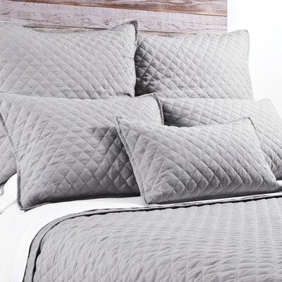 Hampton Linen Lumbar Pillow Color: Silver