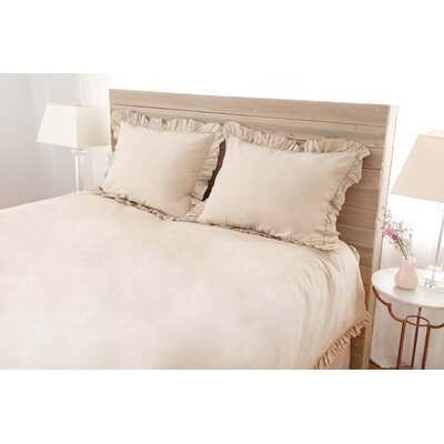 Madison Duvet Set Size: Queen, Color: Taupe