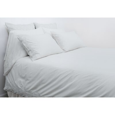Grace Duvet Cover Color: Powder Blue, Size: Queen