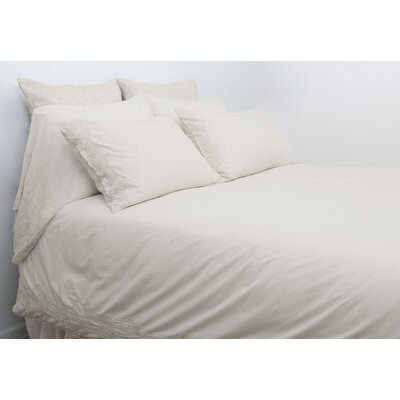 Grace Duvet Cover Size: King, Color: Taupe