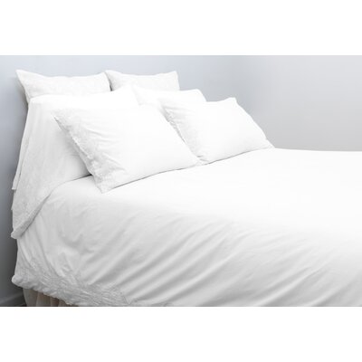 Grace Duvet Set Size: King, Color: White