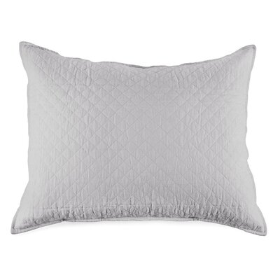 Hampton Cotton Lumbar Pillow Color: Silver