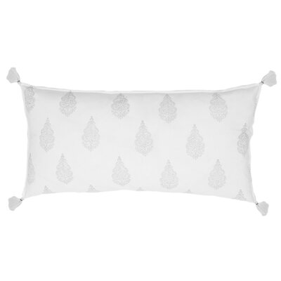 Siya Cotton Lumbar Pillow Color: Silver