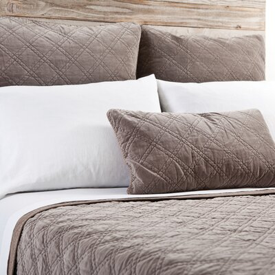 Brussels Coverlet Size: Queen, Color: Walnut