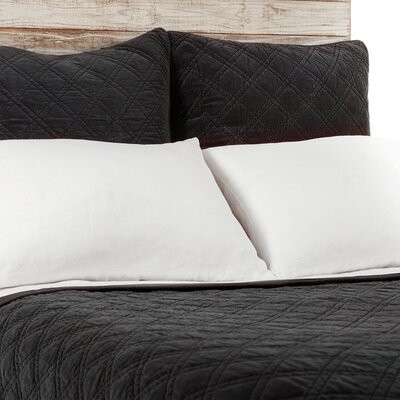 Brussels Coverlet Size: King, Color: Black Ink