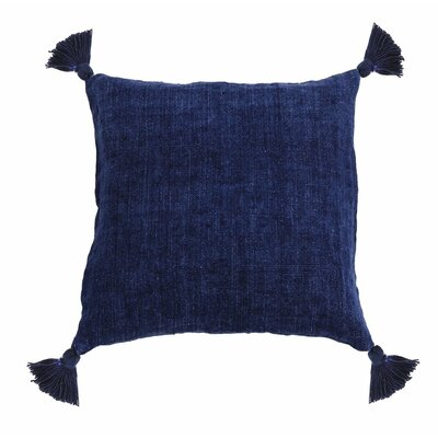 Montauk Linen Throw Pillow Color: Indigo