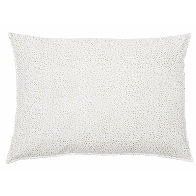 Dot Cotton Lumbar Pillow Color: Gold