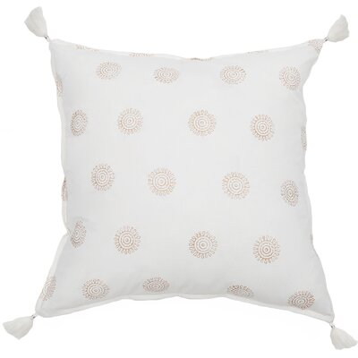 Ravi Cotton Throw Pillow Color: Gold