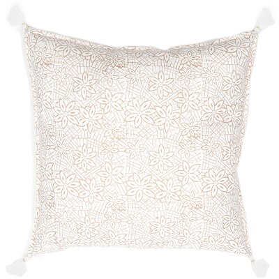Keya Cotton Throw Pillow Color: Gold