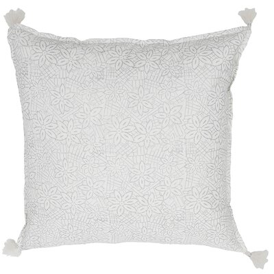 Keya Cotton Throw Pillow Color: Silver