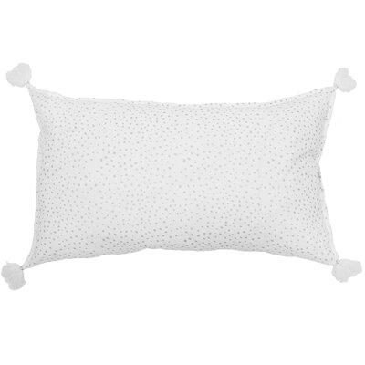 Dot Cotton Lumbar Pillow Color: Silver