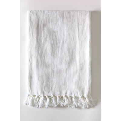 Montauk Linen Blanket Size: 90 L x 110 W, Color: White