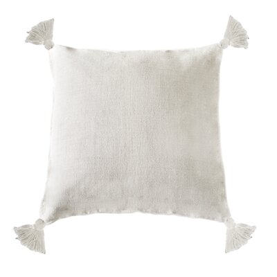 Montauk Linen Throw Pillow Color: Cream