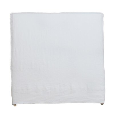 Frayed Tall Headboard Slipcover Size: 64 H x 78 W x 2 D, Upholstery: White