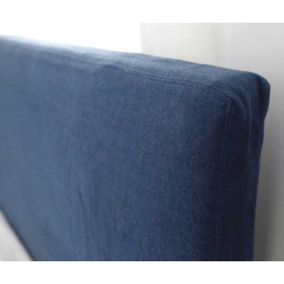 Double Stitched Tall Headboard Slipcover Size: 64 H x 78 W x 2 D, Upholstery: Sea Glass