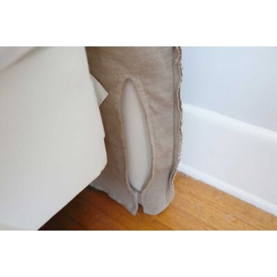 Frayed Tall Headboard Slipcover Size: 62 H x 64 W x 2 D, Upholstery: Natural