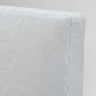 Double Stitched Tall Headbaord Slipcover Size: 62 H x 64 W x 2 D, Upholstery: White