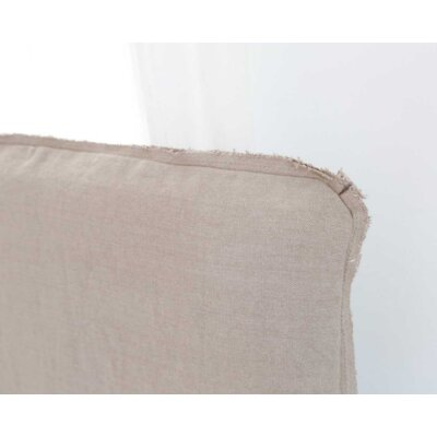 Frayed Tall Headboard Slipcover Size: 62 H x 64 W x 2 D, Upholstery: Sea Glass