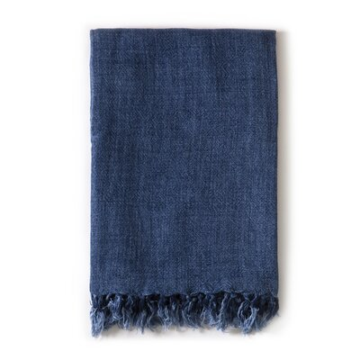 Montauk Linen Throw Color: Indigo