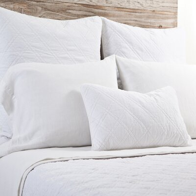 Brussels Coverlet Size: King, Color: White