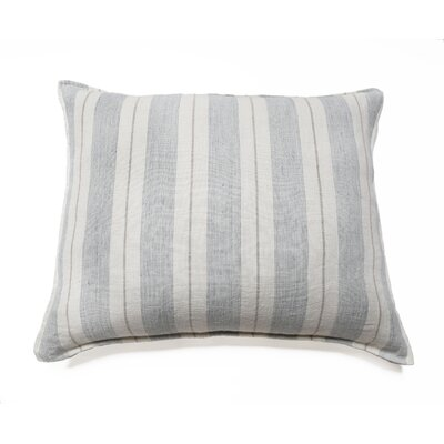 Laguna Big Linen Throw Pillow Color: Ocean / Natural
