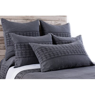 Layla Sham Size: King, Color: Midnight