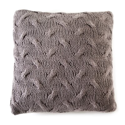 Malibu Pillow Cover Color: Pewter